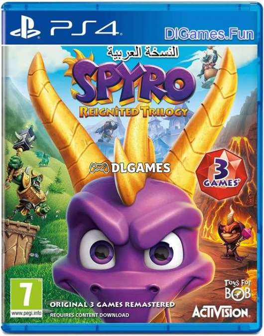 Download  Spyro Reignited Trilogy ps4 Arabic