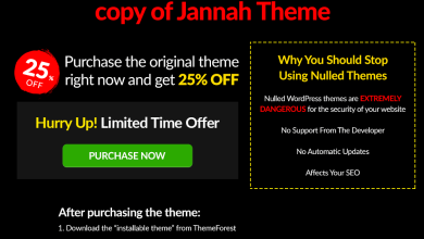 Photo of How to Fix this Website is Using Illegal Copy of Jannah Theme Error 2020
