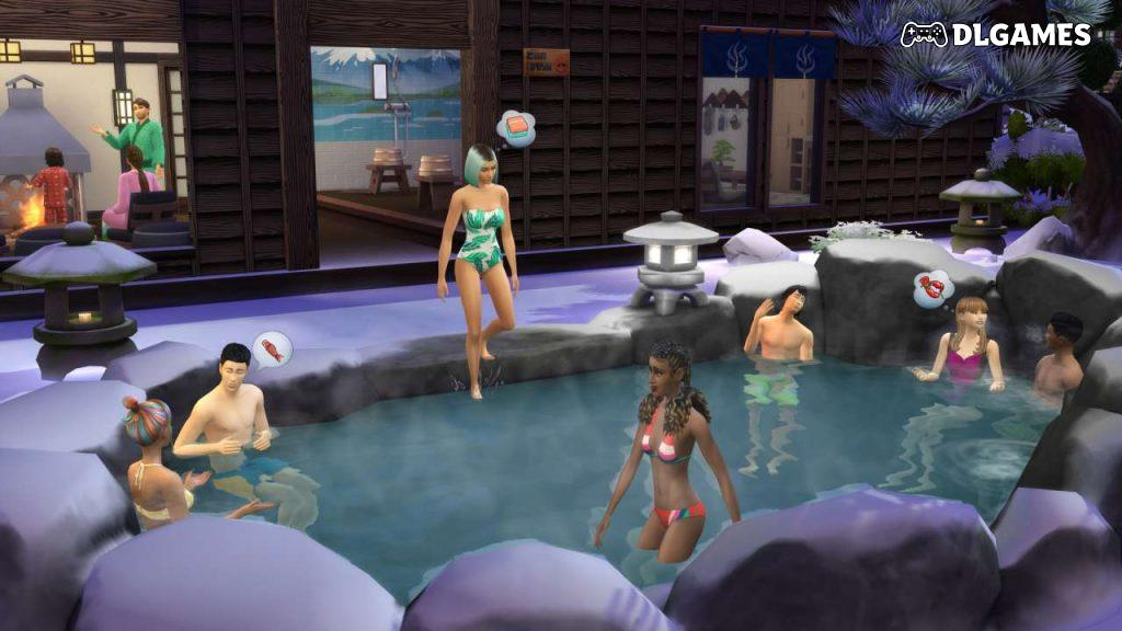 Download The Sims 4 Snowy Escape v1.68.154.1020 Direct Links DLGAMES - Download All Your Games For Free
